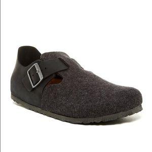 Birkenstock London Clogs in Grey Wool